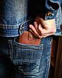 Кожаный кошелек Gazda женский Розовый, фото 5
