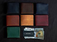 Шкіряний гаманець «Gomin Fuchsia» жіночий Малиновий (10,5x8,5 см) ручної роботи