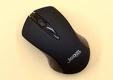 Беспроводная оптическая мышка для компьютера черного цвета Jedel W120, фото 3