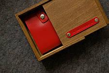 Шкіряна візитниця «Viza LilacPowder» жіноча бузкова (11x6,5 см) ручної роботи, фото 3