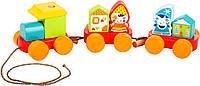Сказочный поезд CUBIKA, деревянная развивающая игрушка