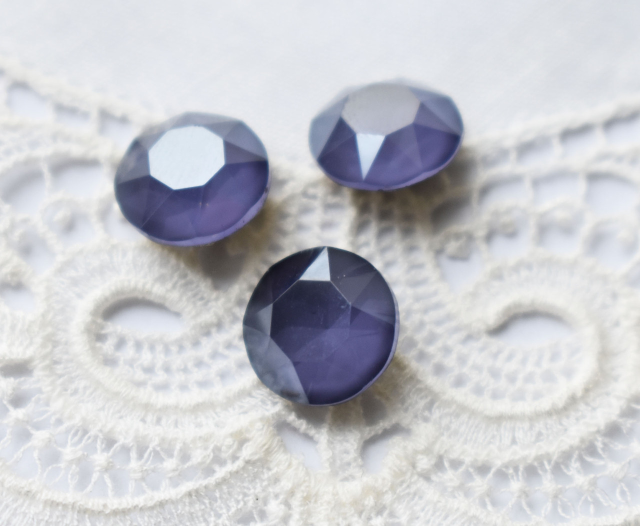 Стразы стеклянные Шатон 10 мм, сине-фиолетовые