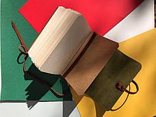 Шкіряний блокнот А6 «Nota6 Fuchsia» жіночий Малиновий (15x11 см) ручної роботи, фото 3