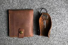 Кожаная ключница Keysi мужская черная, фото 2
