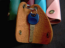 Кожаная ключница Keysi мужская черная, фото 3