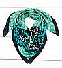 Шелковый платок Шанни, 90*90 см, бирюзовый
