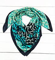 Шелковый платок Шанни, 90*90 см, бирюзовый, фото 1