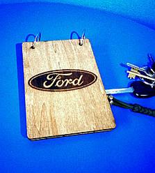 Блокнот из дерева А6 Ford, Форд (на кольцах)