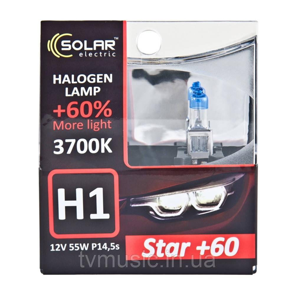 Галогенные лампы SOLAR Star +60% H1 12V 55W 3700K