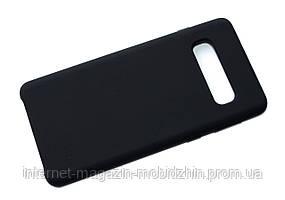 Чехол силиконовый Samsung G973 Galaxy S10 Black, 100% Original Soft Matte Case