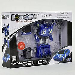 Трансформер Roadbot  свет фар, в коробке , цвет синий