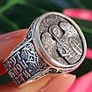 Серебряное мужское кольцо Архангел Михаил с молитвой - Кольцо Архистратиг Михаил серебро, фото 5