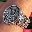 Серебряное мужское кольцо Архангел Михаил с молитвой - Кольцо Архистратиг Михаил серебро, фото 2