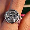 Серебряное мужское кольцо Архангел Михаил с молитвой - Кольцо Архистратиг Михаил серебро, фото 4