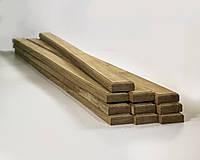 Дубовые бруски для скамейки 200*3.5*8 см Лакованный