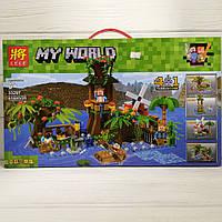"Конструктор LELE ""MY WORLD"" 416 деталей ""База на воде"" 6+ (Аналог Лего)"