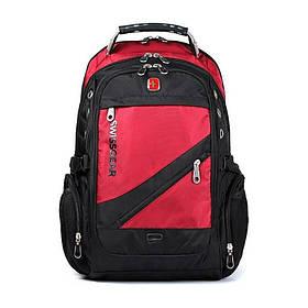 Рюкзак Swissgear Черно-красный  35 л. 32х25х46 см.