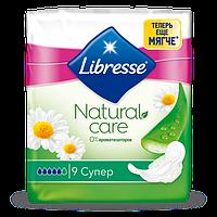 Прокладки на критичні дні Libresse Natural Care Super 9 шт.
