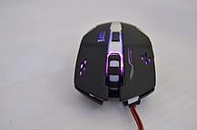 Компьютерная игровая оптическая проводная мышка  X6, фото 2