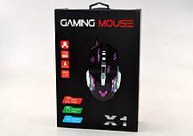 Компьютерная игровая оптическая проводная мышка  X6, фото 3