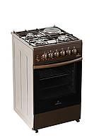 Газовая плита GRETA 1470-ГЭ-00 коричневая эл.духовка 3+1