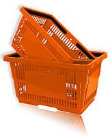 Покупательская корзина для супермаркетов оранжевая и др., фото 1