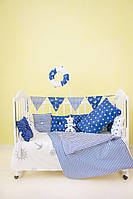 """Детские бортики в кроватку """"Морячок"""" синие бортики для мальчика,защита бортик в кроватку"""