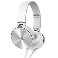 Накладные наушники гарнитура (с микрофоном) JBL MDR-XB450 copy белые УЦЕНКА, фото 1