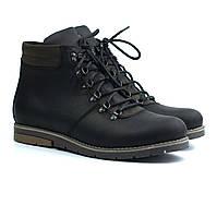 Зимние ботинки хайкеры кожаные на меху мужская обувь Rosso Avangard Rangers Street Crazy Black, фото 1