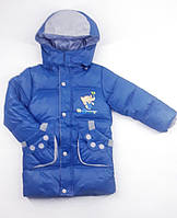 Куртка Слон мал. голубая зима,холлофайбер 1485 Китай XL (116см)(р)