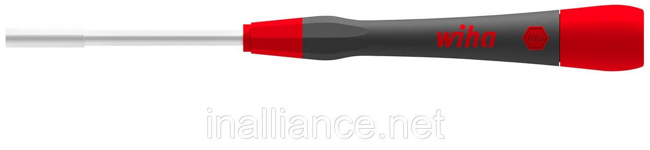 Тонка мікро викрутка HEX NUT 3,0 x 60 мм, для гвинтів із зовнішнім шестигранником PicoFinish Wiha 42447