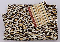 Комплект постельного белья Хлопок 100% GOLD Двуспальный от украинского производителя Леопардовый 5008