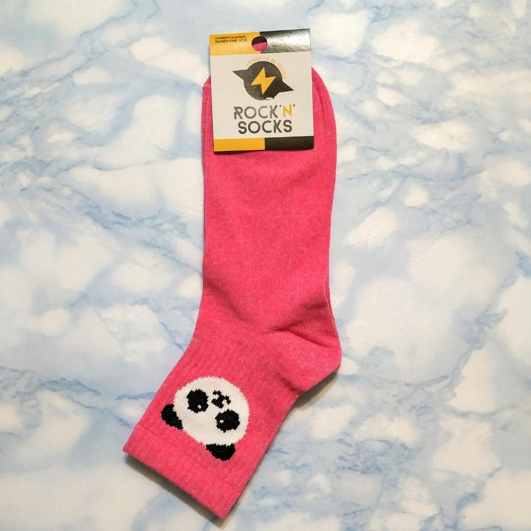 Носки женские розовые с пандой размер 39-43