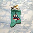 Носки женские бирюзовые с единорогом размер 36-40, фото 4