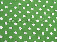 Фетр китайский с рисинком 1.2 мм, 20x30 см, Зеленый в горошек