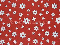 Фетр китайский с рисинком 1.2 мм, 20x30 см, Красный в цветочек, фото 1