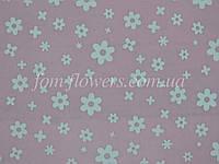 Фетр китайский с рисинком 1.2 мм, 20x30 см, Розовый в цветочек, фото 1