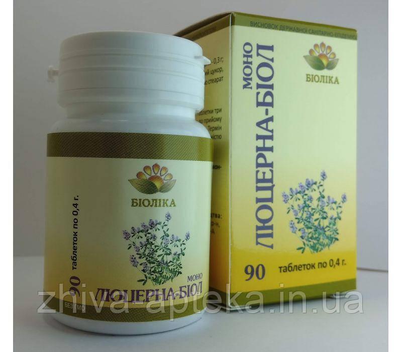 Моно-биол Люцерна (90 шт) от анемии