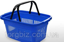 Купівельна кошик для супермаркетів синя та ін кольору