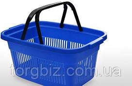 Покупательская  корзина для супермаркетов синяя