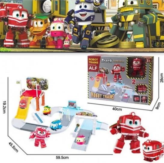Парковка детская игровой гаражРоботы Поезда