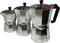 Алюминиевая гейзерная кофеварка на 3 чашки 150 мл