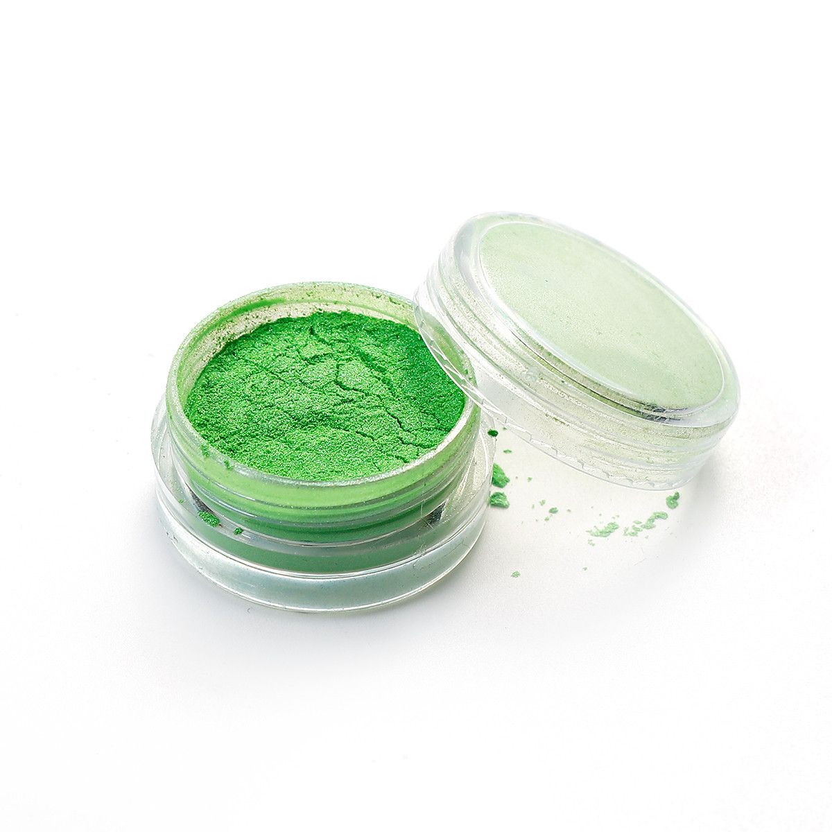Наповнювач для епоксидної смоли, Блискітки зеленого кольору, 30 мм x 16 мм, ціна вказана за 1 баночку!