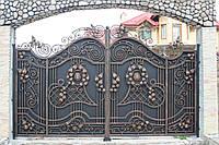 Кованые распашные ворота, код: 01141