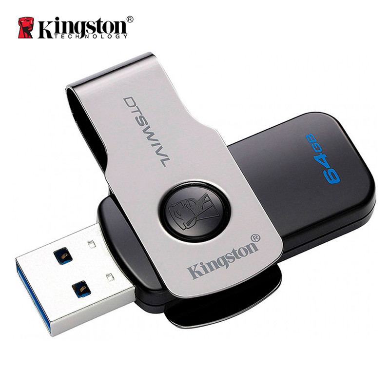 Флеш-память USB Kingston DataTraveler DTSWIVL (64GB, USB 3.1)