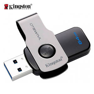 Флеш-память USB Kingston DataTraveler DTSWIVL (64GB, USB 3.1)