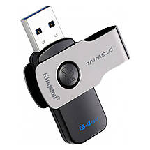 Флеш-память USB Kingston DataTraveler DTSWIVL (64GB, USB 3.1), фото 2