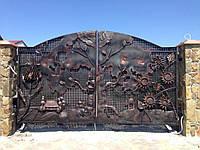 Кованые эксклюзивные ворота, код: 01154