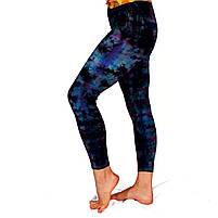 Легінси для йоги, тай-дай, 90% бавовна, 10% еластична лайкра, фото 2