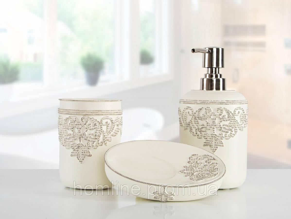 Комплект аксессуаров в ванную Irya Julian ekru молочный (3 предмета)